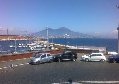 Napels zicht op Vesuvius