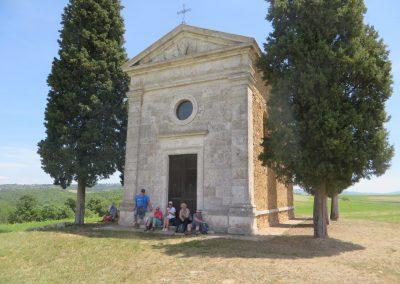 Toscane Pienza omgeving, cappella di Vitaleta